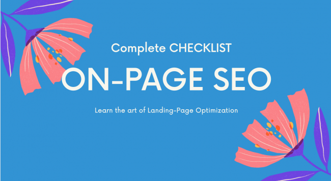 On-Page SEO Checklist 2020