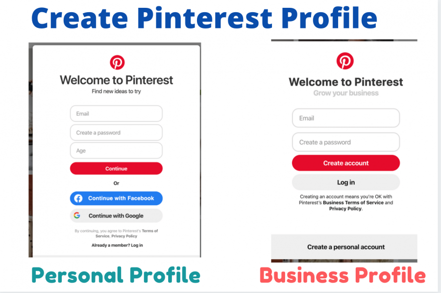 Create your Pinterest Profile