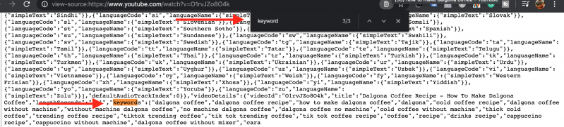 Tags in Video Source Code